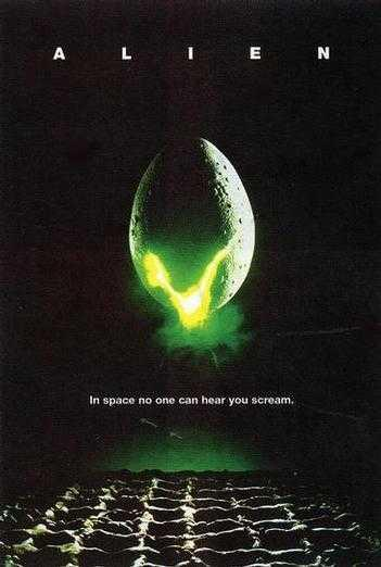 Alien Movie Alien (1979), like jaws (1975)